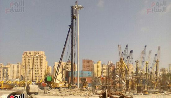 مشروع إنشاء جراج متعدد الطوابق بميناء الإسكندرية (8)