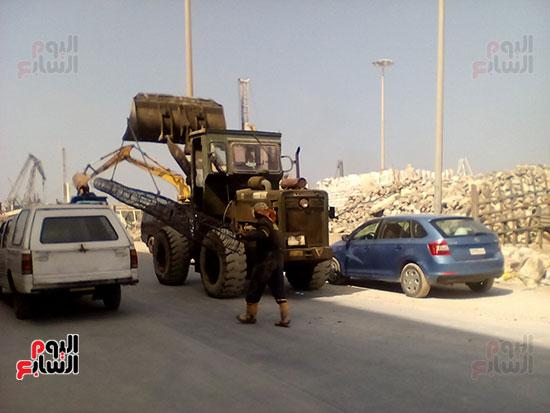 مشروع إنشاء جراج متعدد الطوابق بميناء الإسكندرية (14)