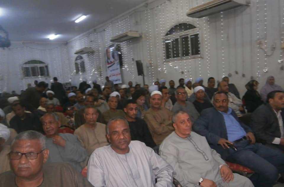 مؤتمر جماهيري للنائب عبد الرازق الزنط بإسنا لدعم الرئيس السيسي بحضور أسر الشهداء (4)