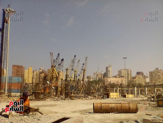 مشروع إنشاء جراج متعدد الطوابق بميناء الإسكندرية (6)