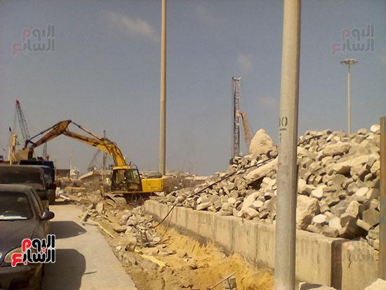 مشروع إنشاء جراج متعدد الطوابق بميناء الإسكندرية (11)