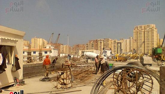 مشروع إنشاء جراج متعدد الطوابق بميناء الإسكندرية (9)