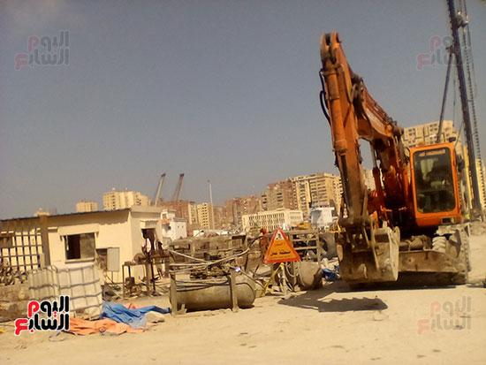 مشروع إنشاء جراج متعدد الطوابق بميناء الإسكندرية (13)