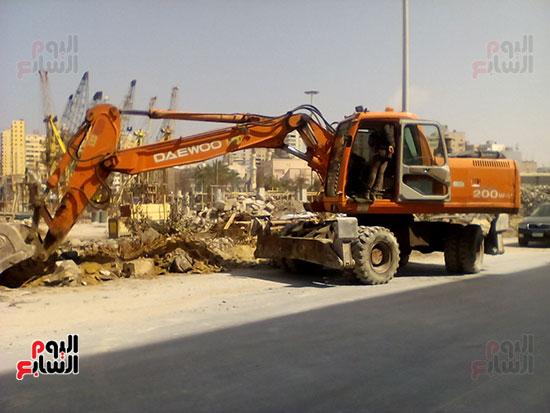 مشروع إنشاء جراج متعدد الطوابق بميناء الإسكندرية (15)