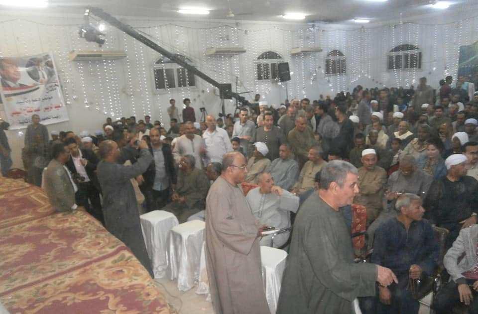 مؤتمر جماهيري للنائب عبد الرازق الزنط بإسنا لدعم الرئيس السيسي بحضور أسر الشهداء (5)