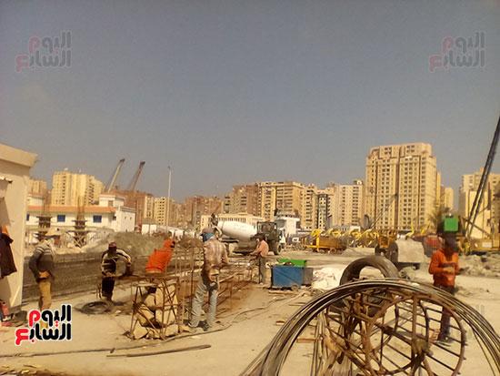 مشروع إنشاء جراج متعدد الطوابق بميناء الإسكندرية (5)