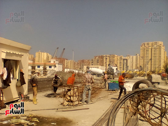 مشروع إنشاء جراج متعدد الطوابق بميناء الإسكندرية (4)