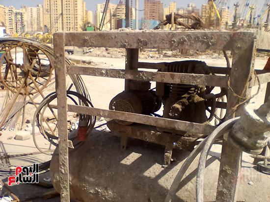 مشروع إنشاء جراج متعدد الطوابق بميناء الإسكندرية (7)