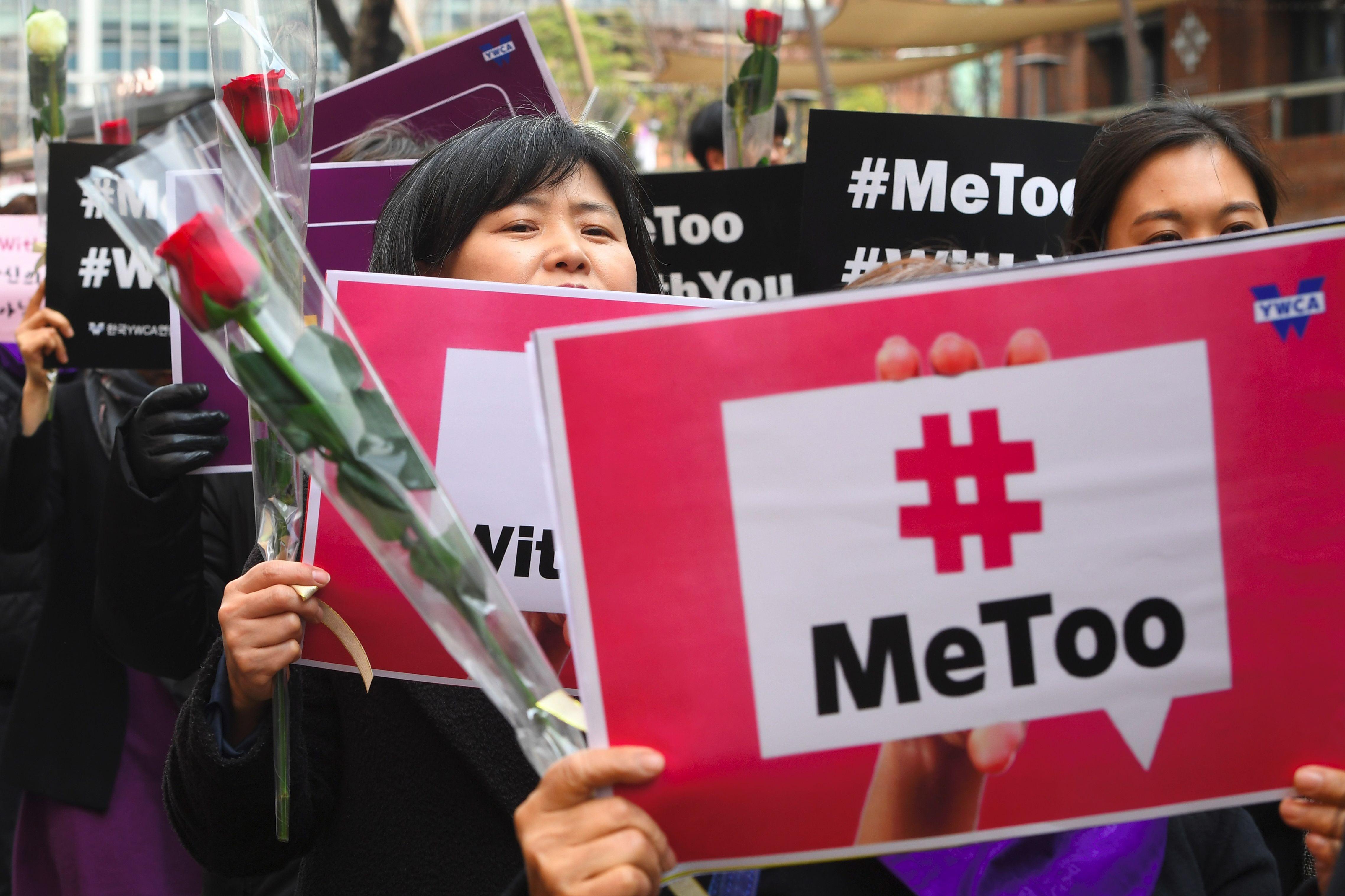 ناشطات يحتفلن باليوم العالمى للمرأة فى كوريا الجنوبية