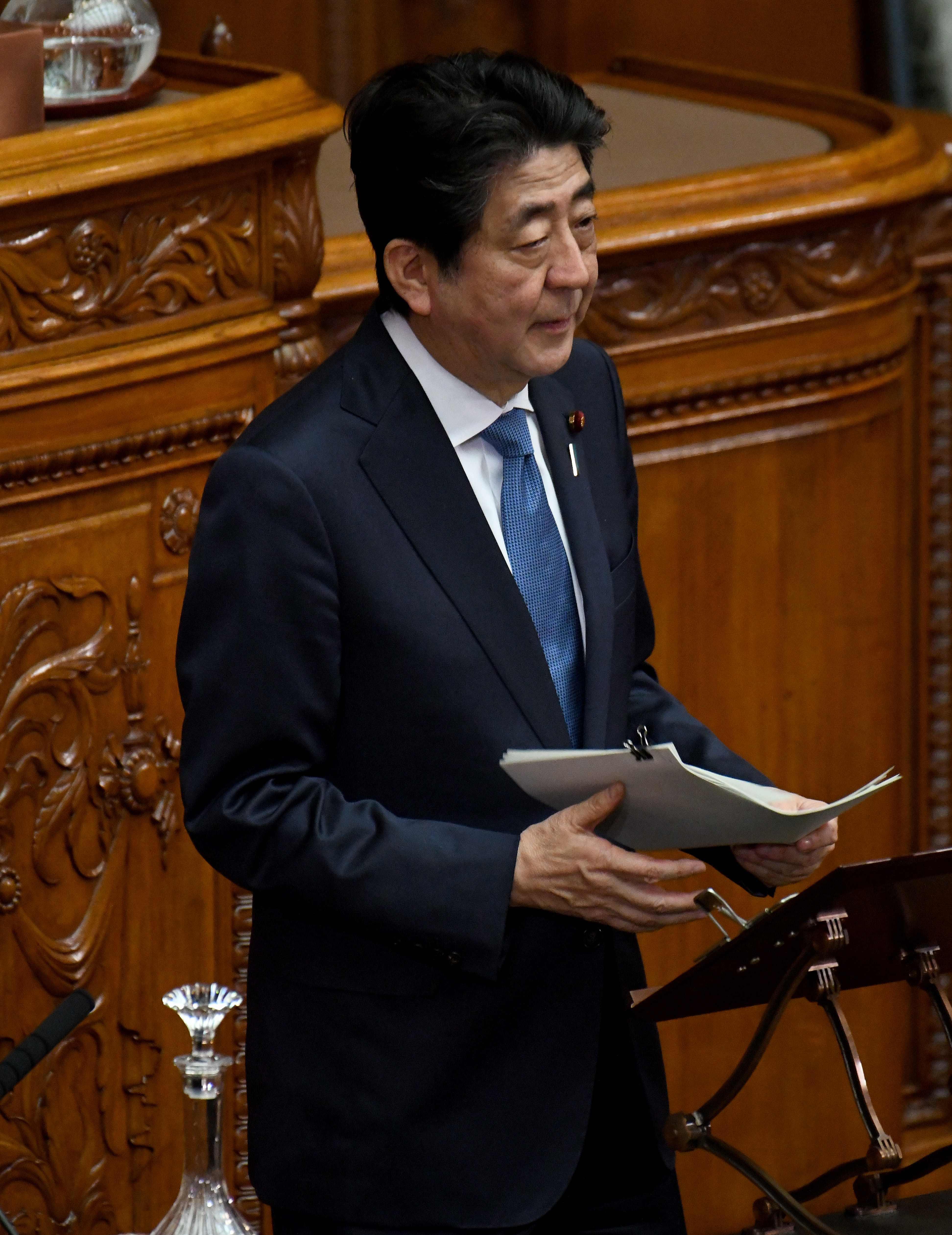 رئيس الوزراء اليابانى اليوم فى كلمة له