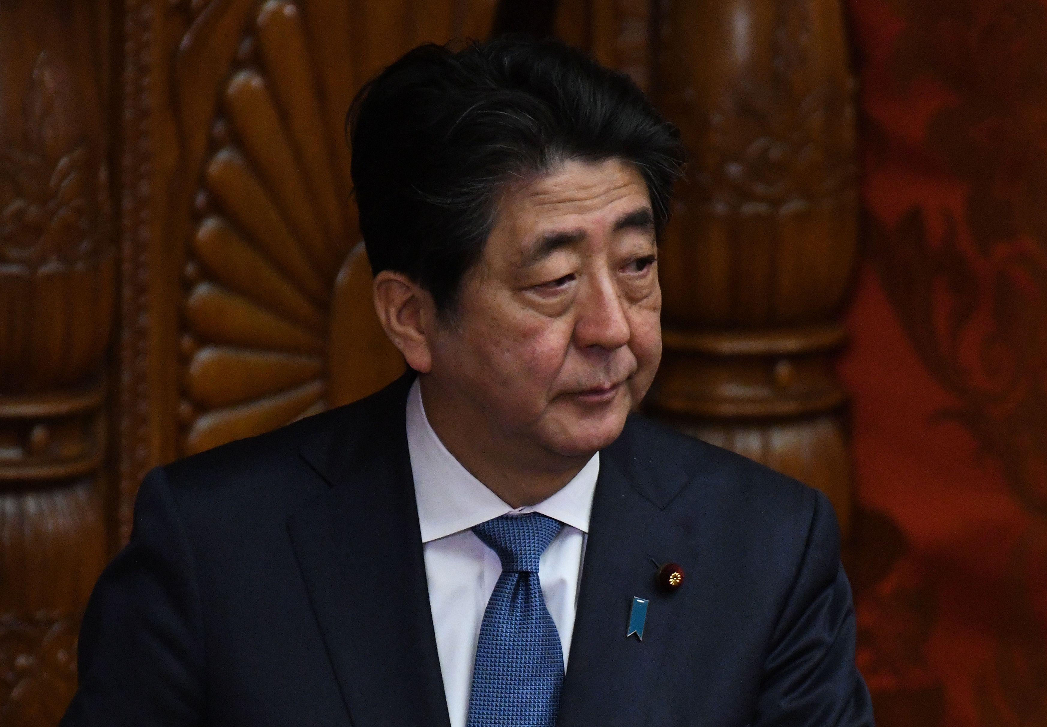 جانب من رئيس الوزراء اليابانى