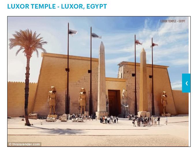 معبد الأقصر قديما