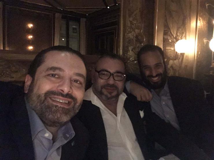 الحريرى وبن سلمان والعاهل المغربى