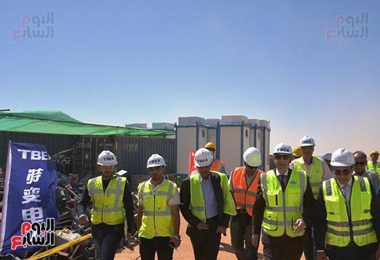 تحالف الشركات الدولية خلال زيارة المشروع