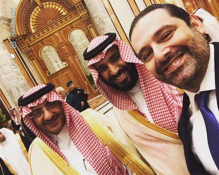 الحريرى وبن سلمان وولى العهد السابق