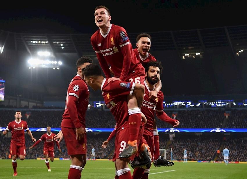 فرحة نجوم ليفربول بالصعود