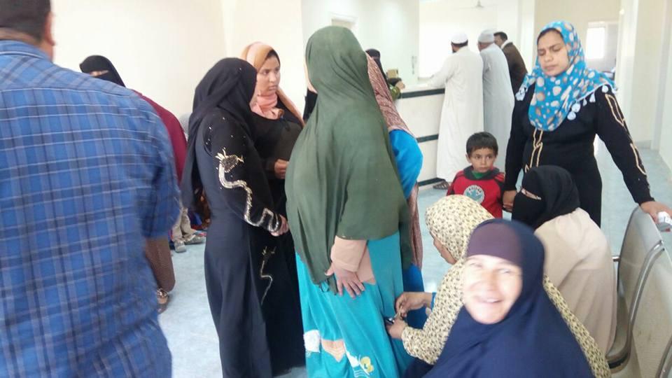 اقبال من الأهالى فى لآأول يوم افتتاح وحدة صحية بقرية بالحامول