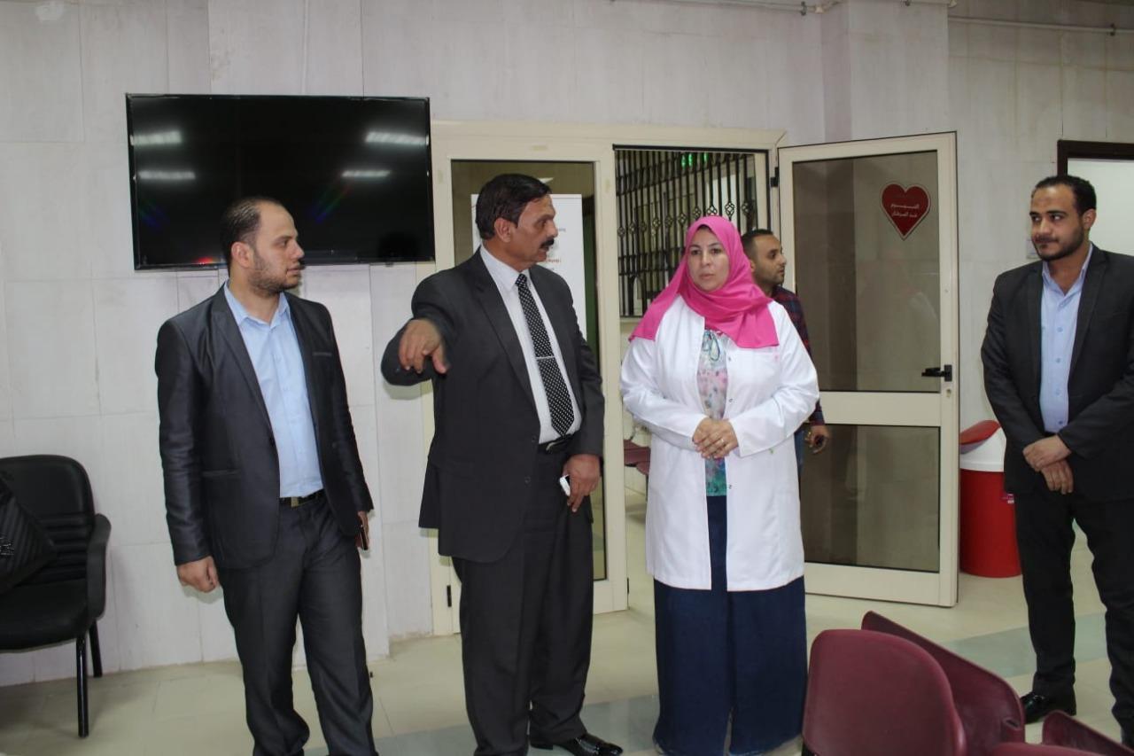 رئيس مركز إطسا يتفقد مركز الأورام قبل افتتاحه (4)