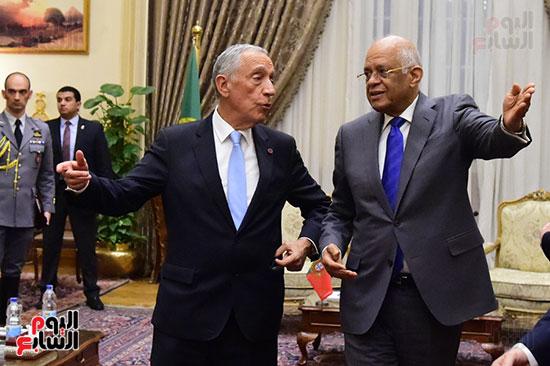 صور الرئيس البرتغالى يصل مقر مجلس النواب.. وعلى عبد العال يستقبله (4)