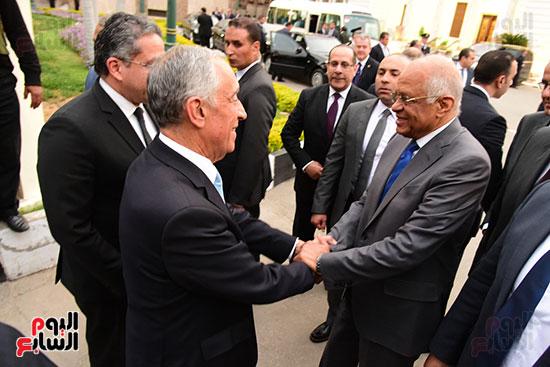 صور الرئيس البرتغالى يصل مقر مجلس النواب.. وعلى عبد العال يستقبله (19)