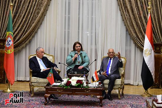 صور الرئيس البرتغالى يصل مقر مجلس النواب.. وعلى عبد العال يستقبله (15)