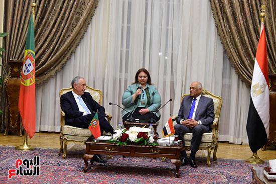 صور الرئيس البرتغالى يصل مقر مجلس النواب.. وعلى عبد العال يستقبله (14)