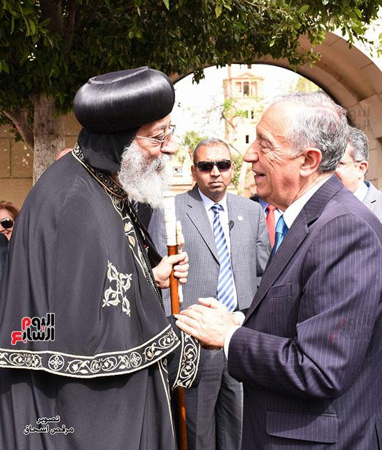 صور البابا تواضروس يستقبل مارسيلو دى سوزا رئيس البرتغال (9)