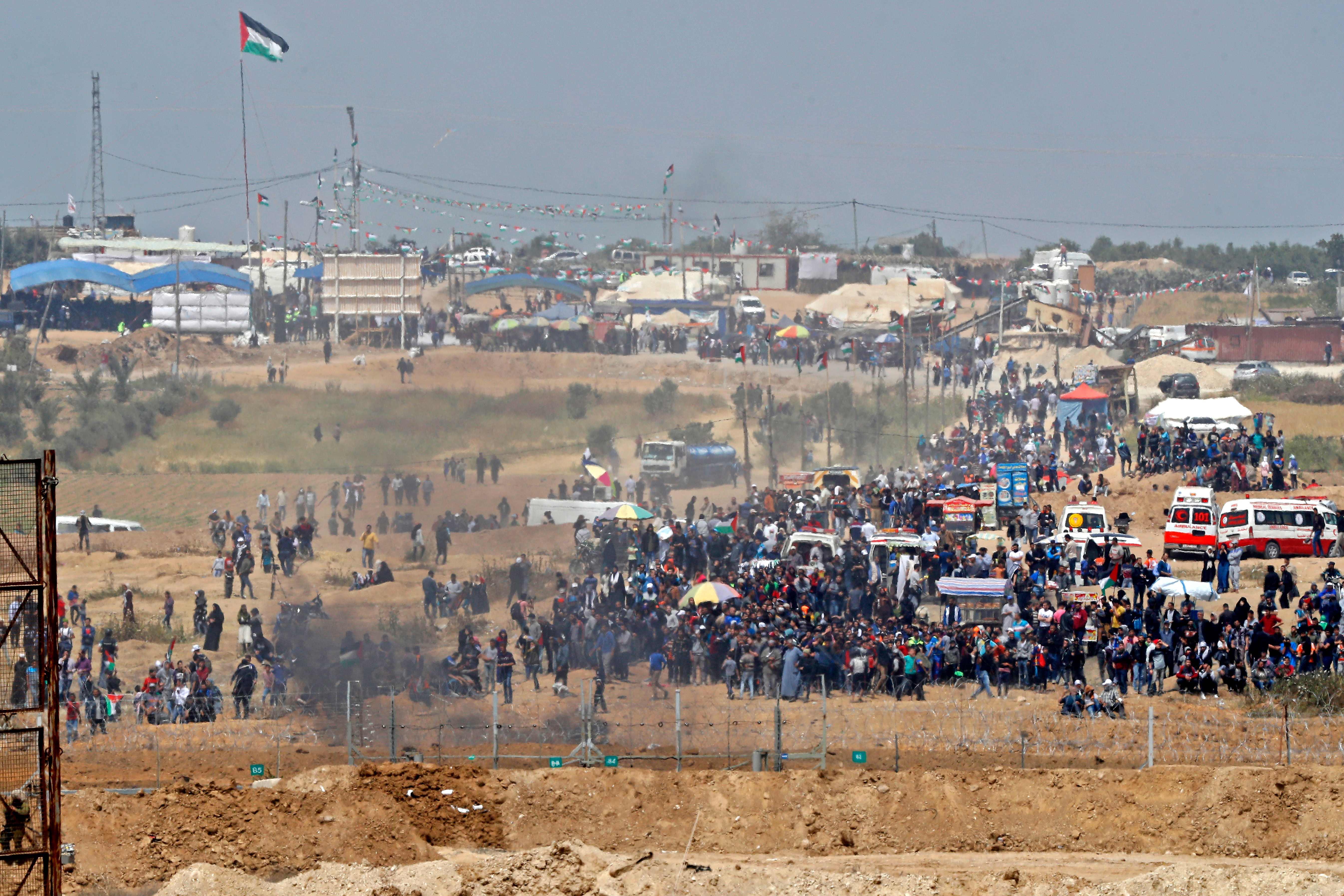 تظاهرات فى فلسطين