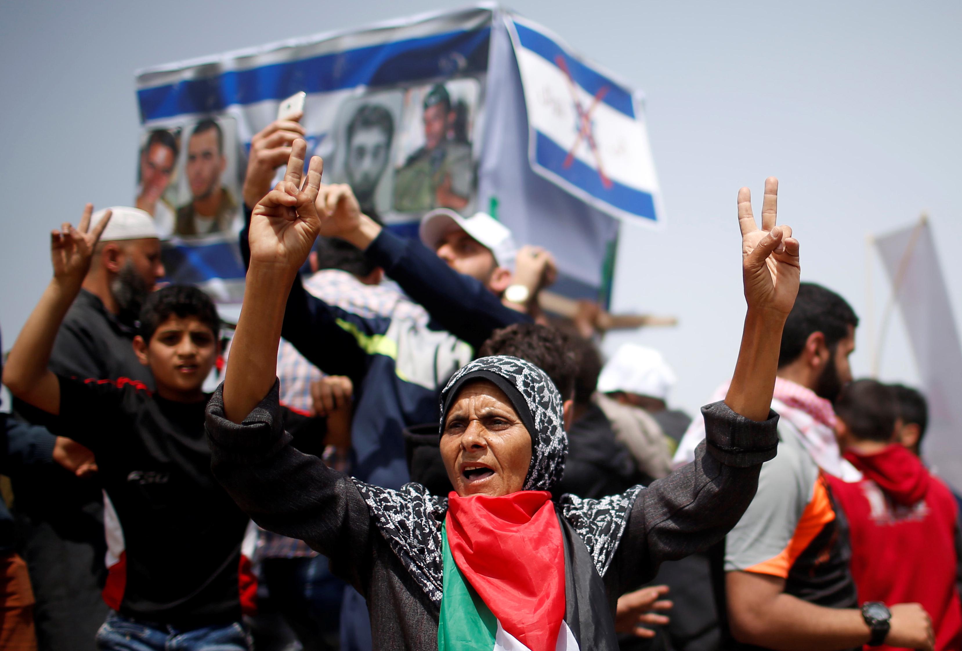 جانب من احتجاجات جمعة الأعلام