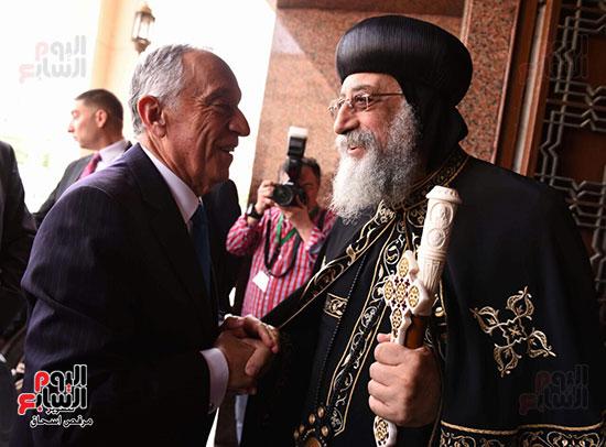 صور البابا تواضروس يستقبل مارسيلو دى سوزا رئيس البرتغال (33)