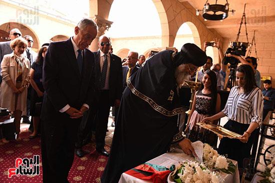 صور البابا تواضروس يستقبل مارسيلو دى سوزا رئيس البرتغال (4)