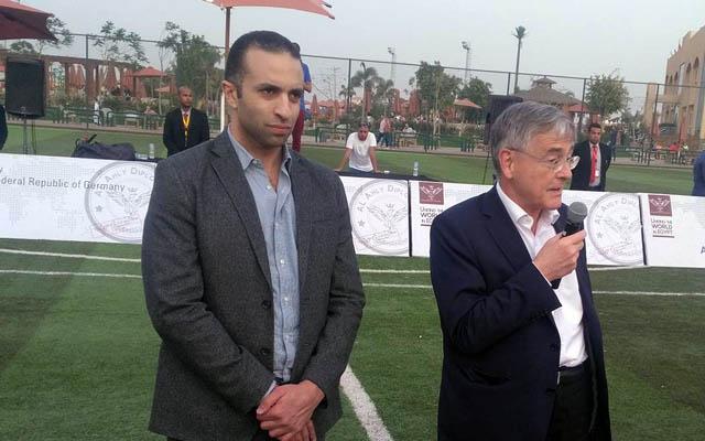 السفير الالماني مع محمد سراج الدين
