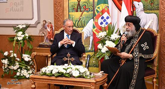 صور البابا تواضروس يستقبل مارسيلو دى سوزا رئيس البرتغال (22)