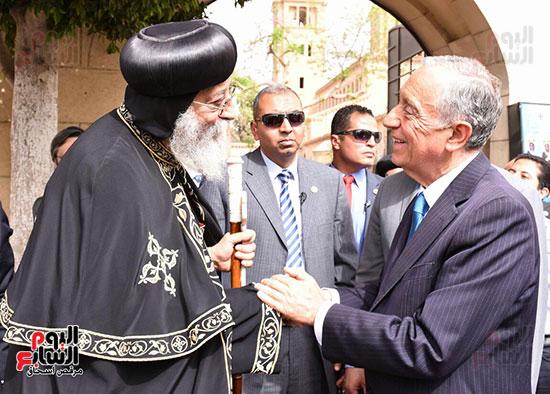 صور البابا تواضروس يستقبل مارسيلو دى سوزا رئيس البرتغال (2)