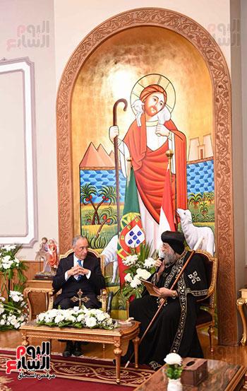 صور البابا تواضروس يستقبل مارسيلو دى سوزا رئيس البرتغال (25)