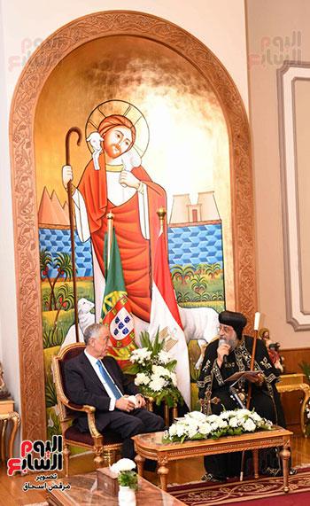 صور البابا تواضروس يستقبل مارسيلو دى سوزا رئيس البرتغال (23)
