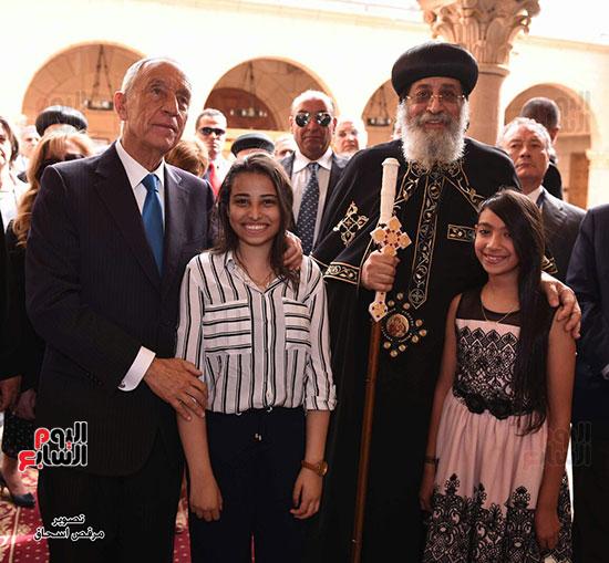 صور البابا تواضروس يستقبل مارسيلو دى سوزا رئيس البرتغال (10)
