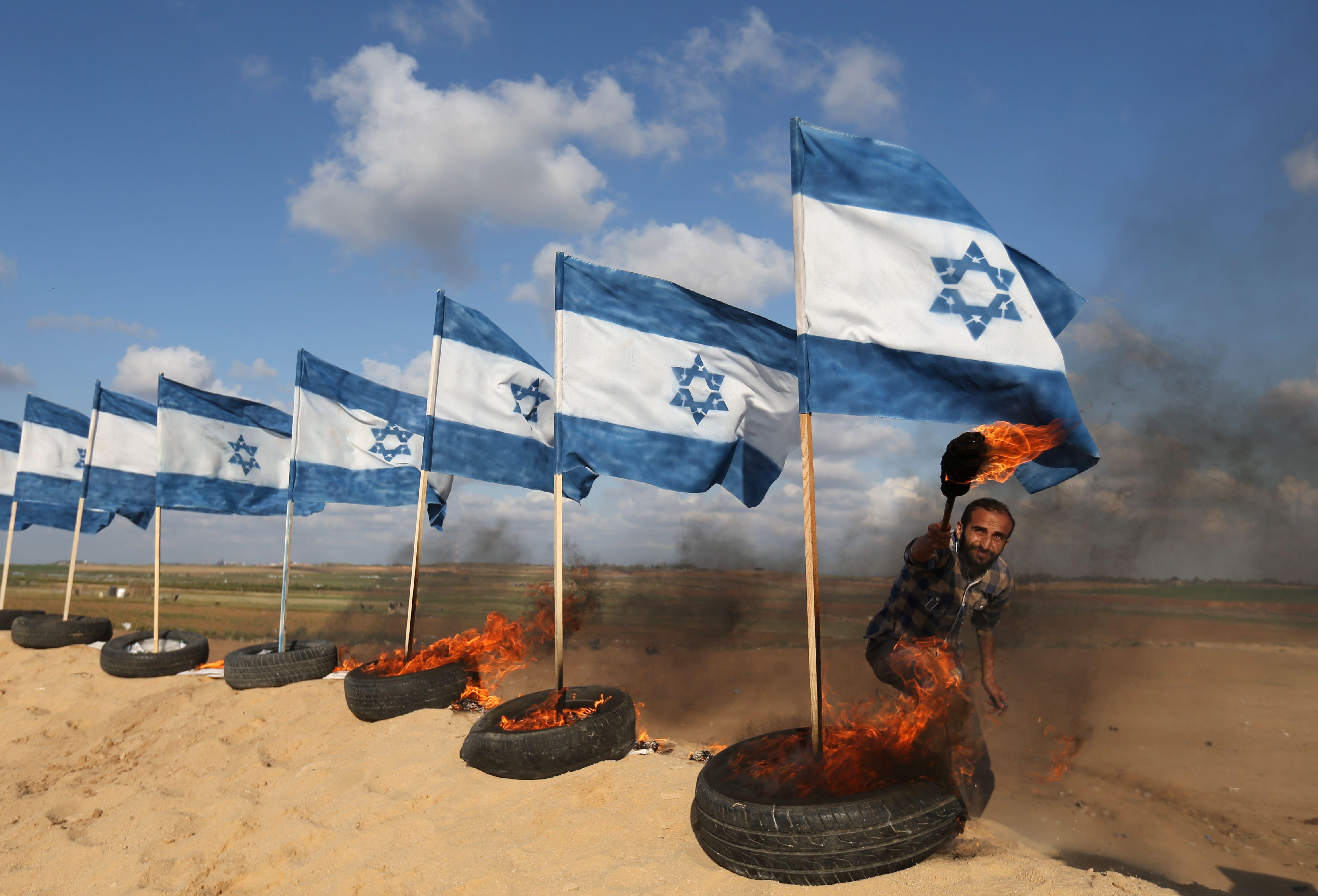 حرق العلم الإسرائيلى