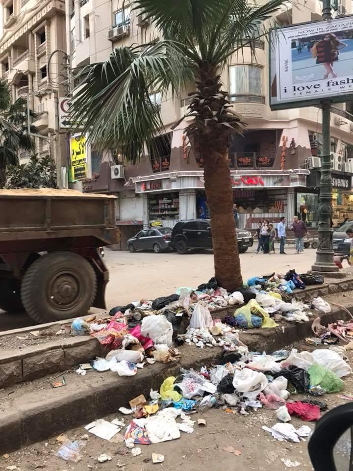 انتشار القمامة بشارع طلبة عويضة (3)