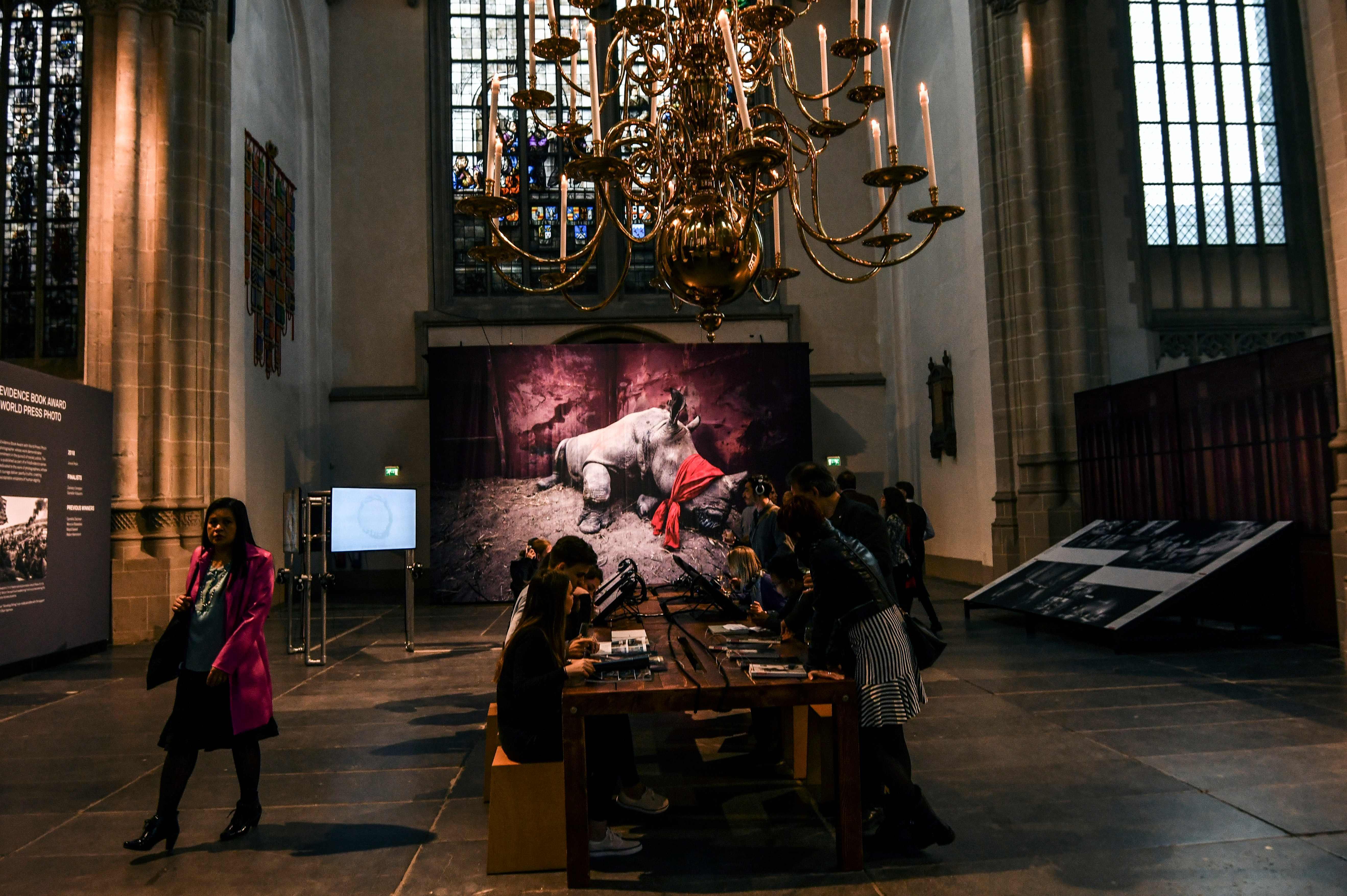 تدفق الجمهور على معرض الصور فى أمستردام