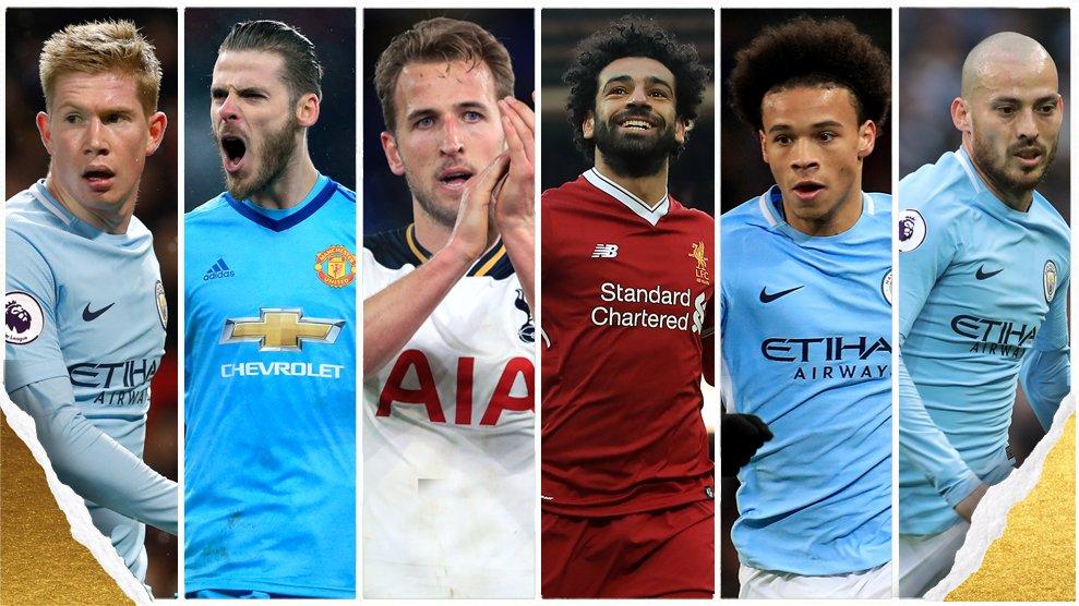قائمة المرشحين للحصول على جائزة أفضل لاعب فى انجلترا