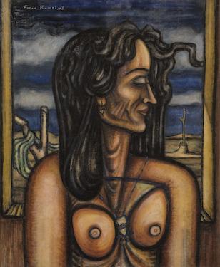 لوحة الفتاة السريالية