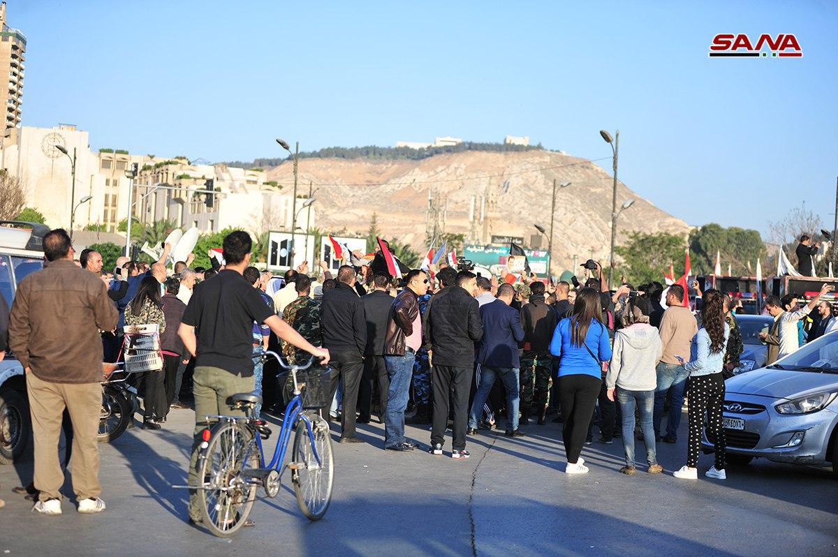 تظاهرات فى دمشق