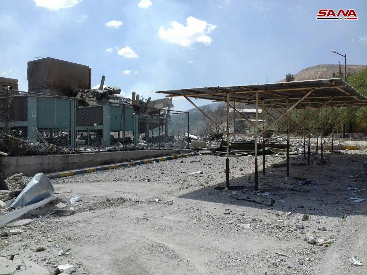 آثار العدوان الثلاثي على مركز البحوث في برزة