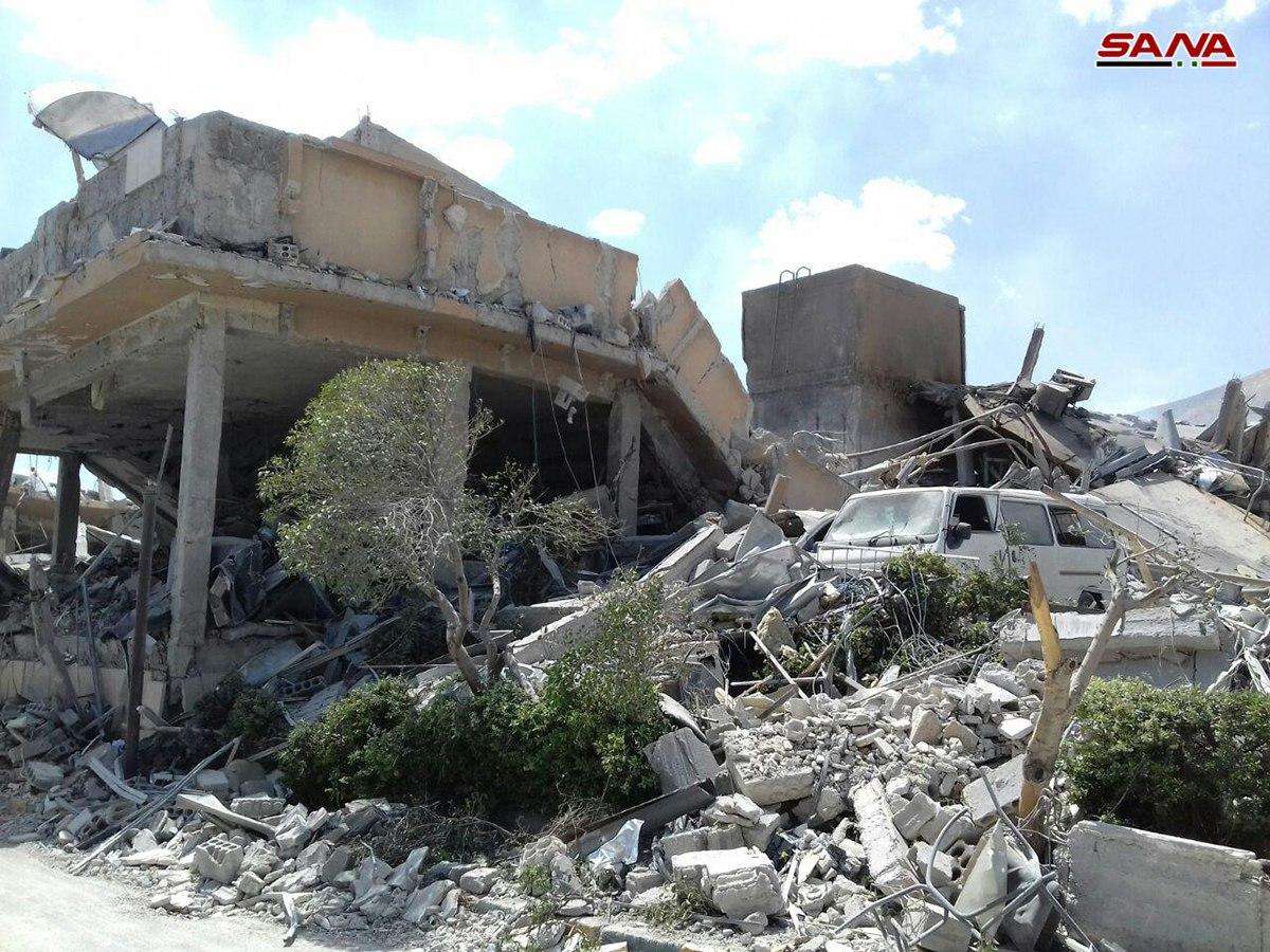 من آثار العدوان الثلاثي على مركز البحوث في برزة