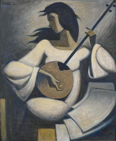 لوحة للفنان حسين بيكار