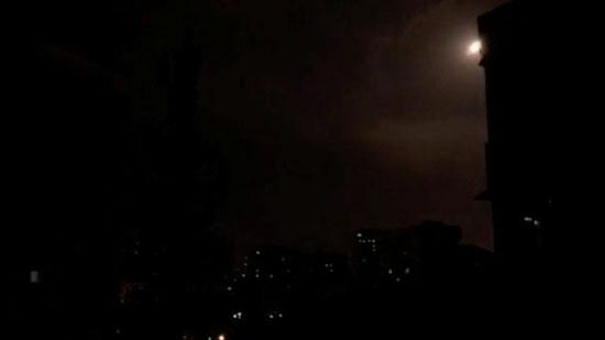 جانب من قصف أهداف في سوريا