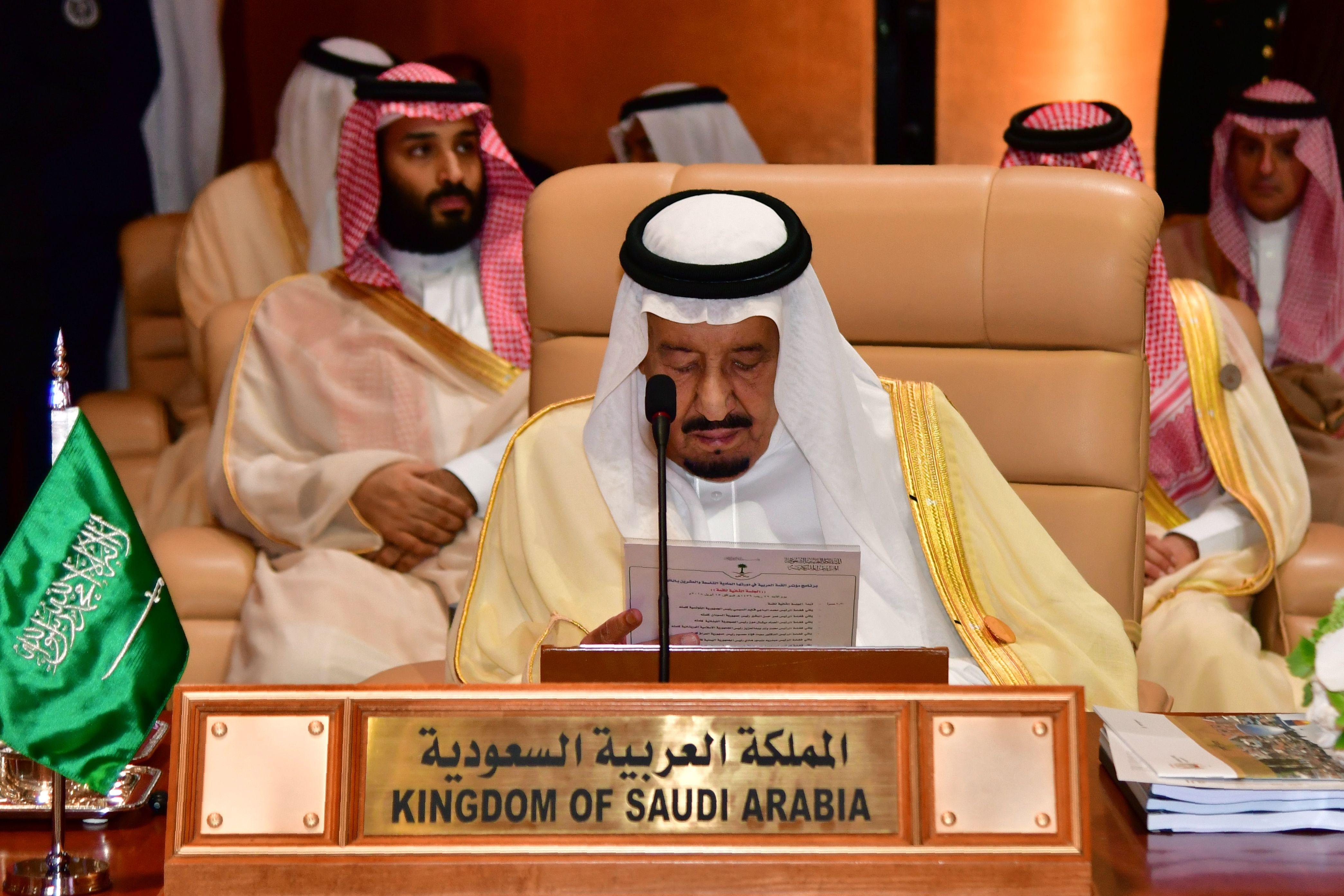 كلمة العاهل السعودى خلال القمة العربية