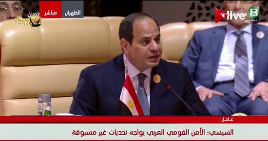 الرئيس عبد الفتاح السيسى خلال القمة العربية بالسعودية