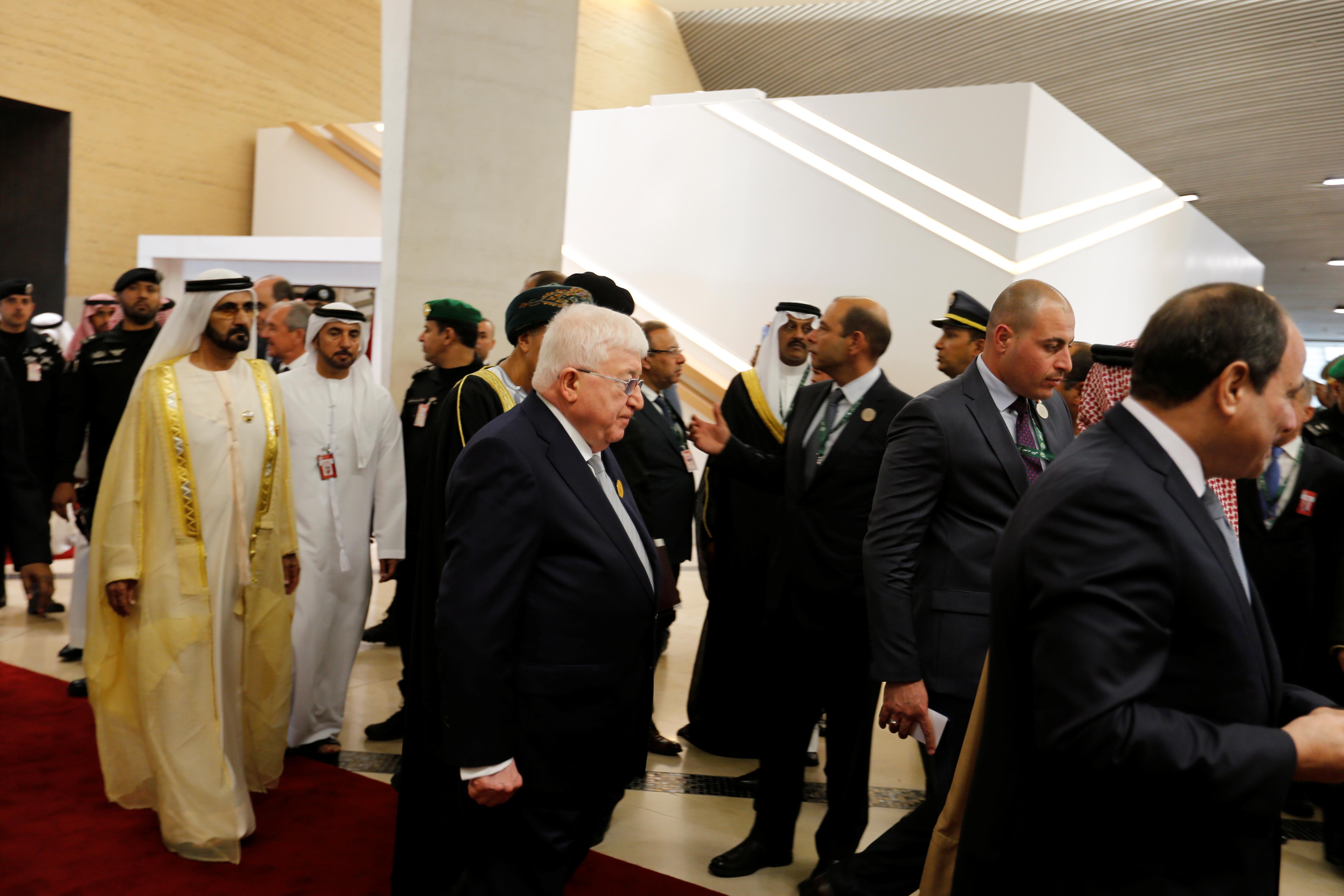 توافد الزعماء العرب على مقر انعقاد القمة العربية بالسعودية